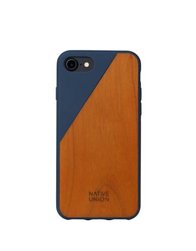 Native Union Clic Wooden iPhone 7 Case-NAVY-One Size