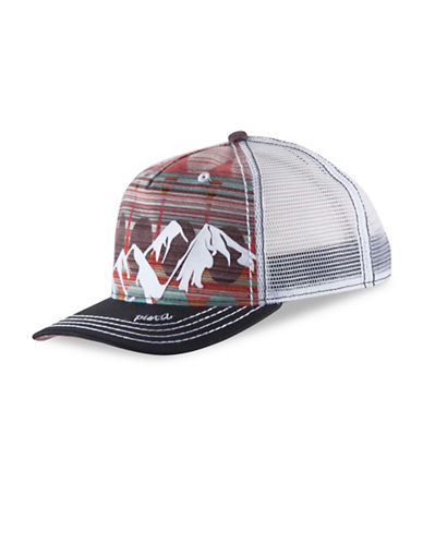 Pistil McKinley Mid-Crown Trucker Hat-GRAPHITE-One Size