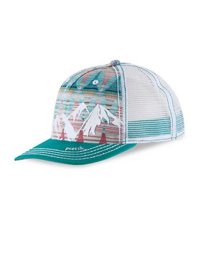 Pistil McKinley Mid-Crown Trucker Hat-JADE-One Size