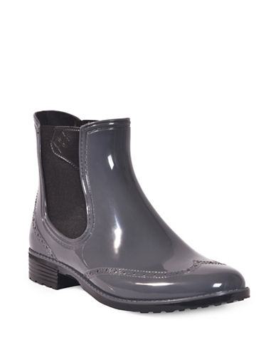 Dav Vienna Brogue Chelsea Boots-GREY-10