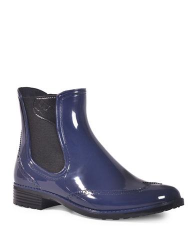 Dav Vienna Brogue Chelsea Boots-NAVY-11