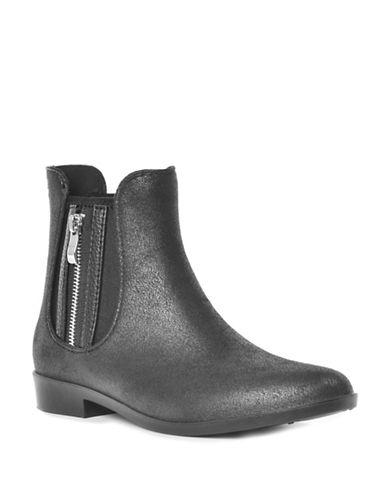 Dav Glasgow Faux Suede Zip Chelsea Boots-BLACK-9