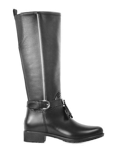 Dav Inverness Equestrian Rain Boots-BLACK-10