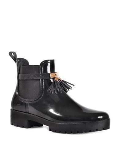 Dav Tassel Chelsea Rain Boots-BLACK-6