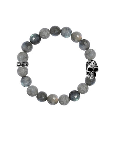 King Baby Studio Labradorite and Sterling Silver Beaded Bracelet-GREY-One Size