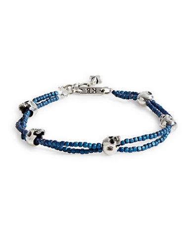 King Baby Studio Double-Strand Skull Bracelet-BLUE-One Size