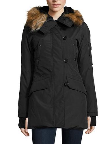 S13 Faux Fur Trim Down Parka-BLACK-Large 88598675_BLACK_Large