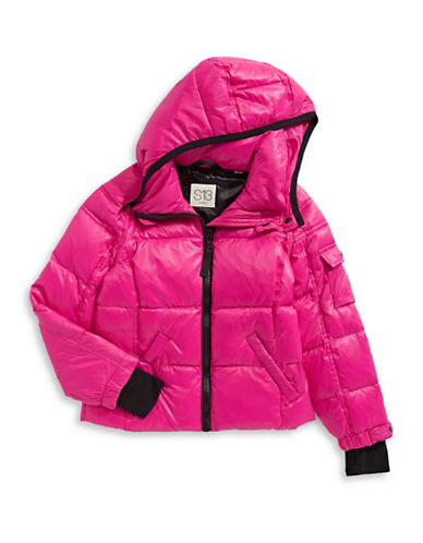 S13 Quilted Puffer Jacket-FUSCIA-4