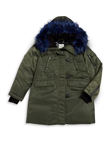 S13 Iceberg Faux-Fur Trim Parka-GREEN-8