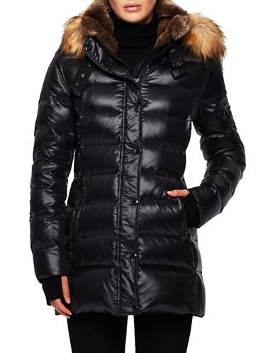S13 Chelsea Faux Fur Detail Puffer Jacket-OXFORD-X-Small