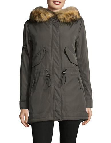 S13 Canyon Faux Fur Parka-MILITARY GREEN-Small