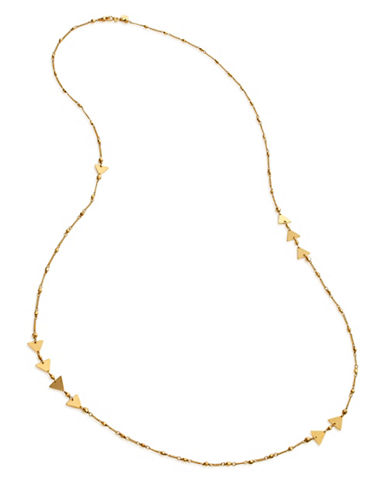 Chan Luu Yellow Goldplated Scatter Necklace-GOLD-One Size