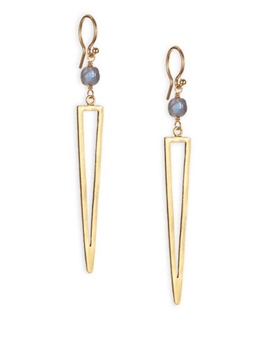 Chan Luu Geo Icon Drop Earrings-GOLD-One Size