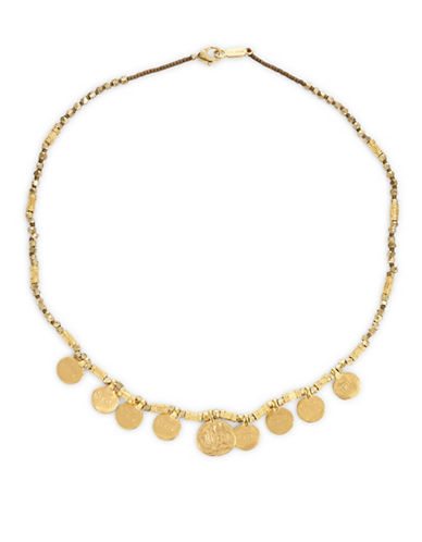 Chan Luu Yellow Goldplated Disc Necklace-GOLD-One Size