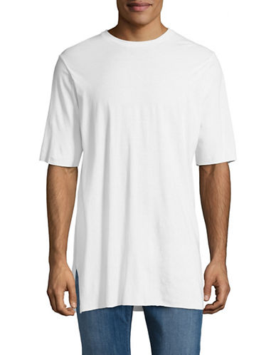 Drifter Bamboo Longline T-Shirt-WHITE-Medium