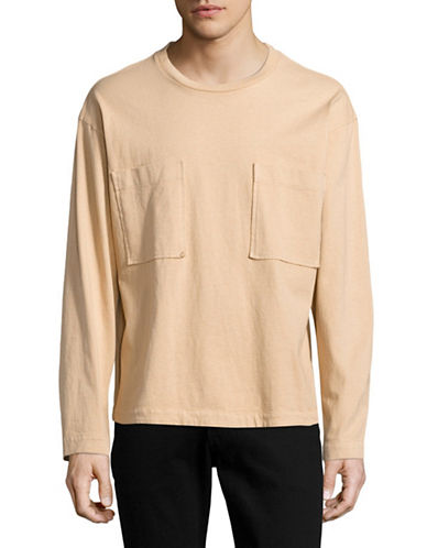 Drifter Double Pocket Long Sleeve T-Shirt-BEIGE-Small