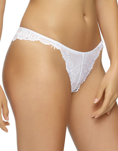Jezebel Caress Too Lace Thong-WHITE-Large
