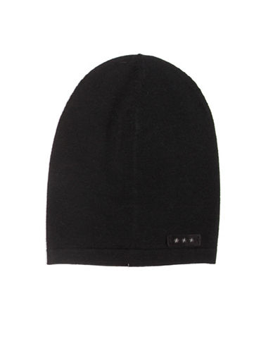 John Varvatos Star U.S.A. Jersey Slouch Wool Beanie-BLACK-One Size