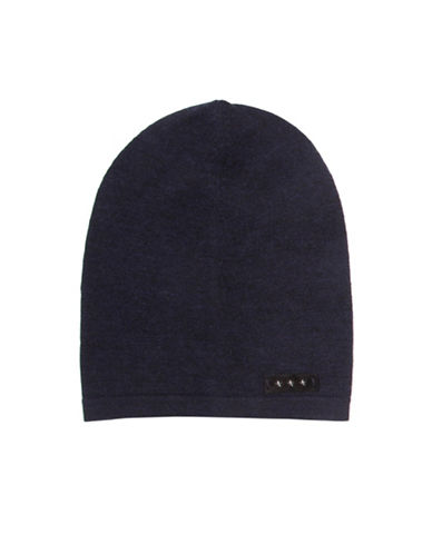 John Varvatos Star U.S.A. Jersey Slouch Wool Beanie-BLUE-One Size