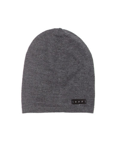 John Varvatos Star U.S.A. Jersey Slouch Wool Beanie-GREY-One Size