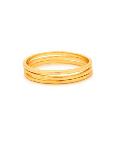 Gorjana Three-Piece 18K Goldplated Ring Set-GOLD-6
