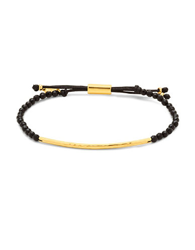 Gorjana Onyx Power Gemstone Adjustable Bracelet-GOLD-One Size