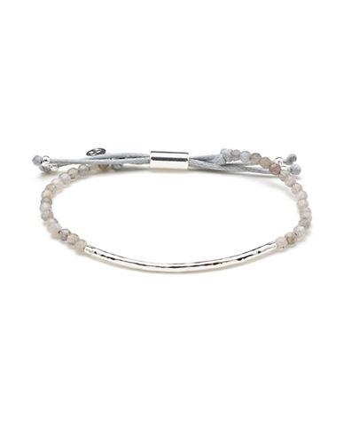 Gorjana Power Gemstones Labradorite Silverplated Adjustable Bracelet-SILVER-One Size