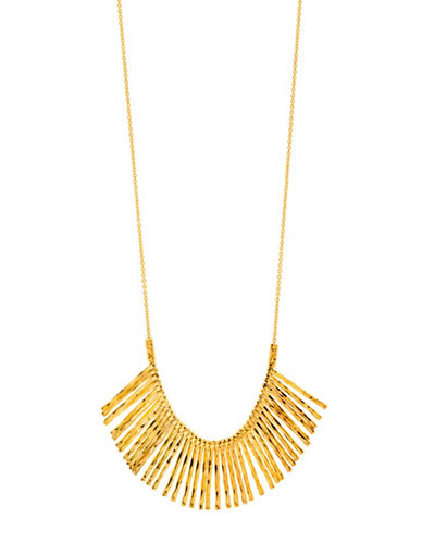 Gorjana Core Kylie 18K Goldplated Fan Necklace-GOLD-One Size