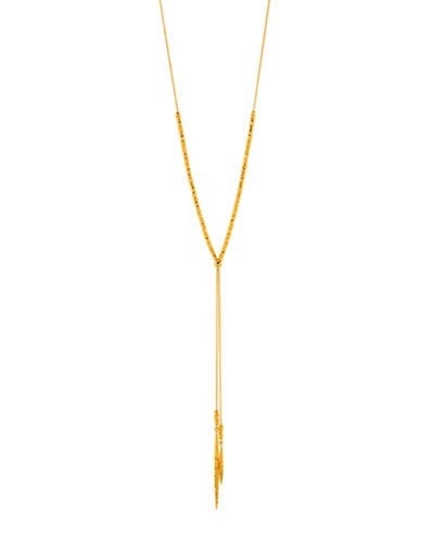 Gorjana Core Laguna 18K Goldplated Slider Necklace-GOLD-One Size