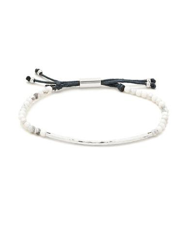 Gorjana Power Gemstones Silverplated Adjustable Bracelet-SILVER-One Size