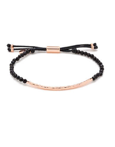 Gorjana Power Gemstones Black Onyx Rose-Goldplated Adjustable Bracelet-ROSE GOLD-One Size