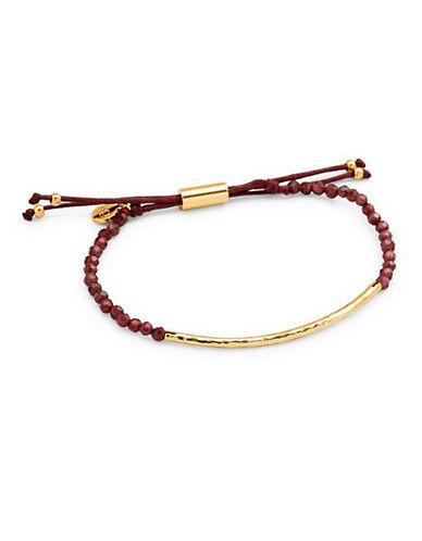 Gorjana Power Gemstone Garnet Beaded Bracelet-GOLD-One Size