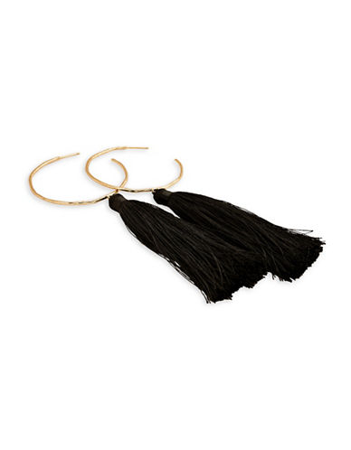 Gorjana Tassel Hoop Earrings-GOLD-One Size