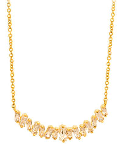 Gorjana Amara Crystal Statement Necklace-GOLD-One Size