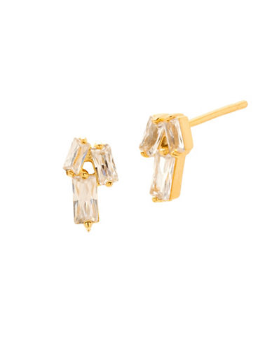 Gorjana Amara Crystal Stud Earrings-GOLD-One Size