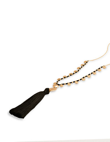 Gorjana Beaded Tassel Multi-Strand Necklace-GOLD-One Size