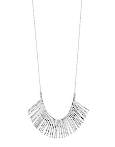 Gorjana Core Kylie Silverplated Fan Necklace-SILVER-One Size