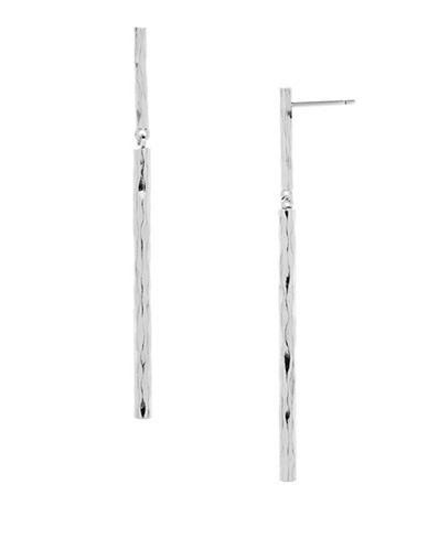 Gorjana Core Kylie Silverplated Bar Drop Earrings-SILVER-One Size