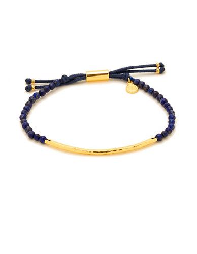Gorjana Power Gemstones Lapis Goldplated Adjustable Bracelet-GOLD-One Size