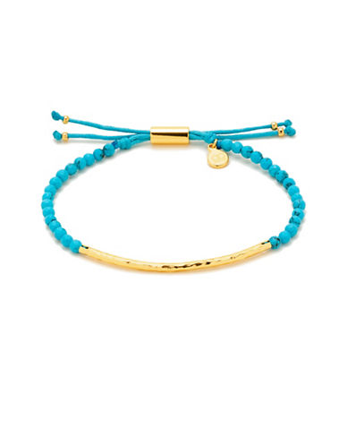 Gorjana Power Gemstones Turquoise Goldplated Adjustable Bracelet-GOLD-One Size