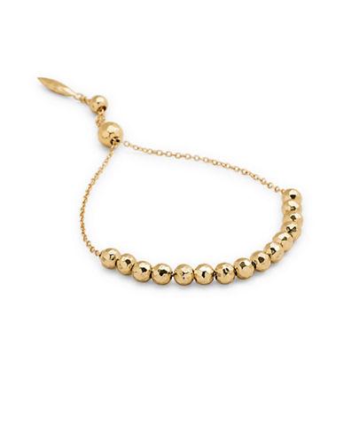 Gorjana Large Bead Adjustable Bracelet-GOLD-One Size