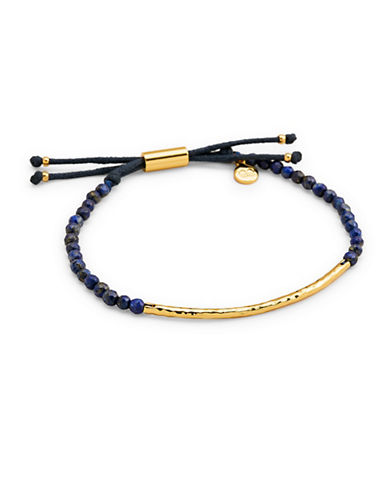 Gorjana Power Gemstone Lapis Beaded Bracelet-GOLD-One Size