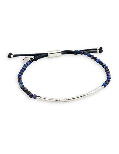Gorjana Power Gemstone Lapis Beaded Bracelet-SILVER-One Size
