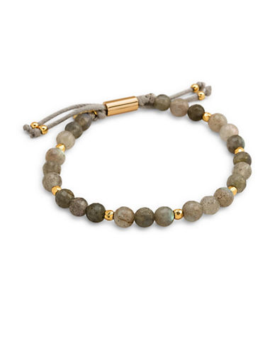 Gorjana Power Gemstone Labradorite Beaded Bracelet-GOLD-One Size