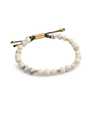 Gorjana Howlite Beaded Bracelet-GOLD-One Size