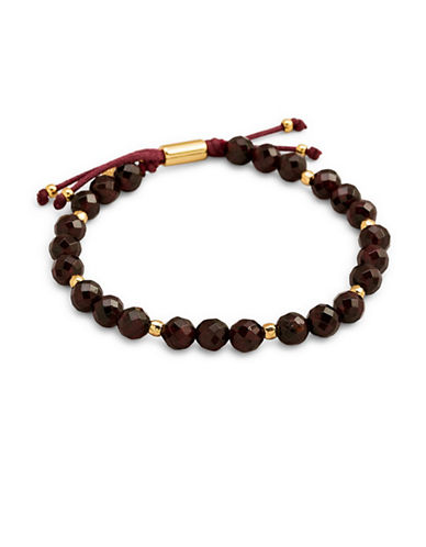 Gorjana Power Gemstone Garnet Beaded Bracelet-GOLD-One Size