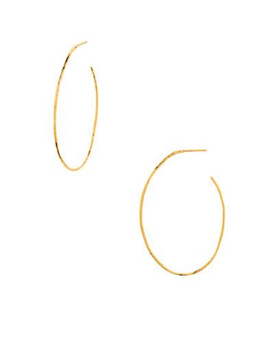 Gorjana Harbour 18K Goldplated Oval Hoop Earrings-GOLD-One Size