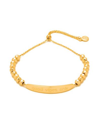 Gorjana Intention Good Vibes Only Adjustable Bracelet-GOLD-One Size