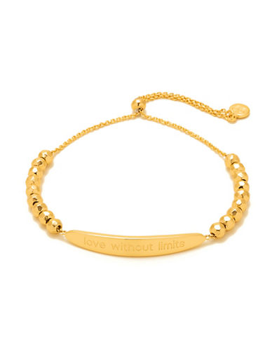 Gorjana Intention Love Without Limits Adjustable Bracelet-GOLD-One Size