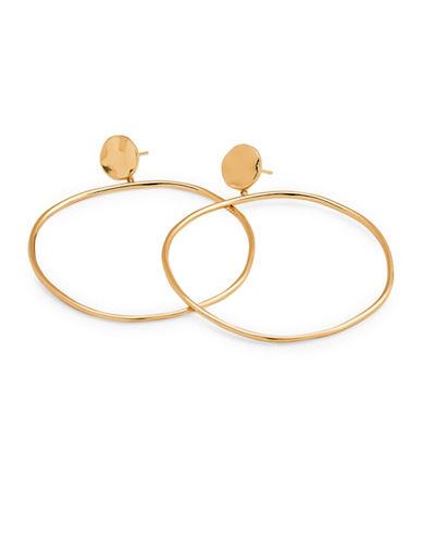 Gorjana Drop Hoop Earrings-GOLD-One Size